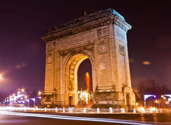 arcul de triumf bucarest rumania