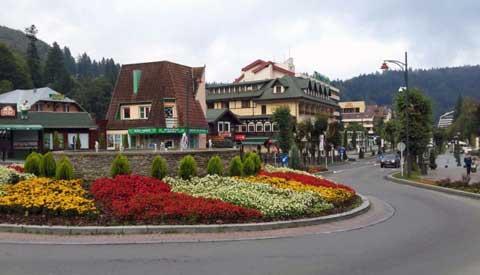 Sinaia un centro turístico de montaña a las afueras de Bucarest